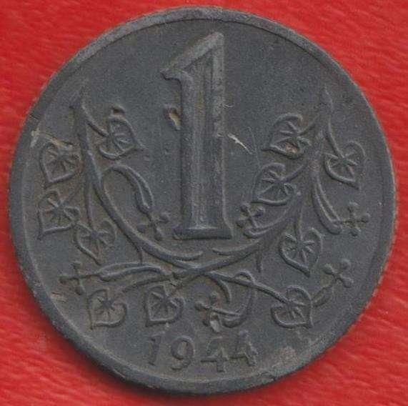 Чехословакия Богемия и Моравия 1 крона 1944 г.