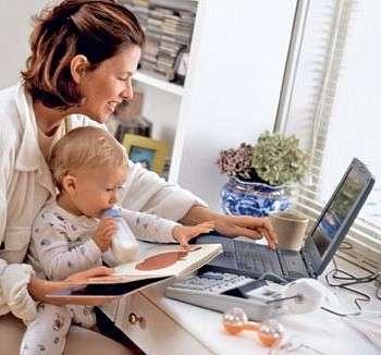 Работа для мам в декрете (заработок рядом с семьёй)