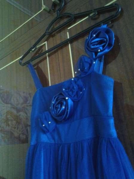 Синее длинное платье в Снежинске фото 3