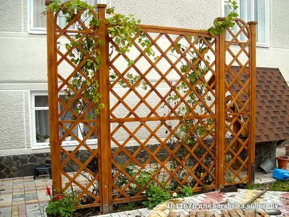 Стенка для винограда из массива