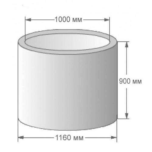 Колодезное кольцо КС-10.9