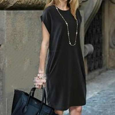 Черное платье, летнее
