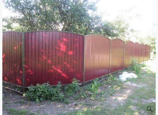 Заборы из профнастила, сетки Рабица, решетчатые. в Краснодаре