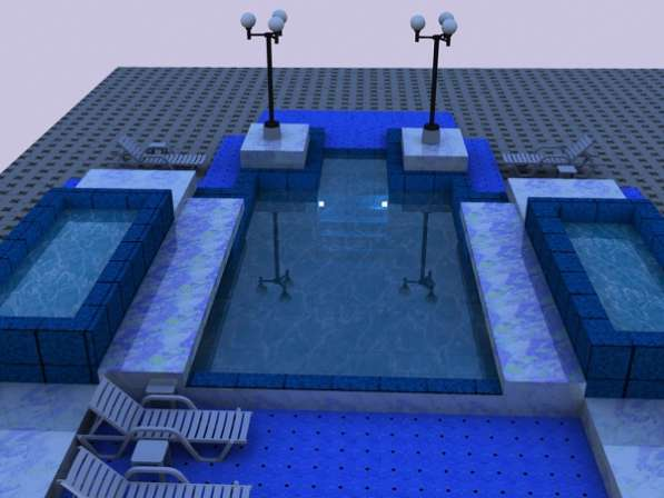 Бассейны и искусственные водоёмы.
