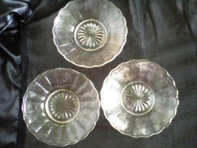 тарелки и рюмки стекло начало 20 века