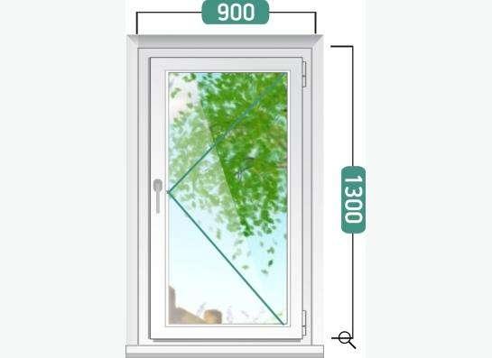 Окно 900х1300