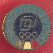 Италия фрачный знак Федерация гимнастики Италии FGI, в Орле