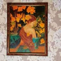 Картина маслом Осень (Леди осень) живопись, в Москве