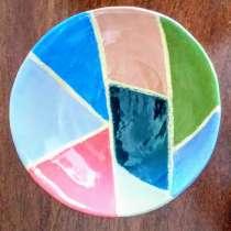 желтая тарелка ручной работы, в г.Иерусалим