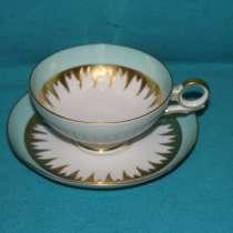 Чайное блюдце Валлендорф/WALLENDORF, ГДР, с золотым рельефом, в г.Москва