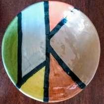 серая тарелка ручной работы, в г.Иерусалим