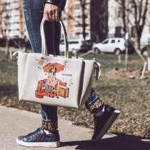 Сумка-шоппер #travelgirl, в Москве