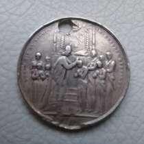 Раритетный серебряный медальон анабаптистов 17-18 век, в г.Тбилиси