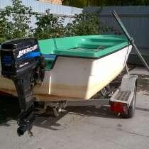 Лодка, прицеп, мотор mercury 25, в Верхней Пышмы
