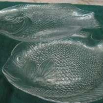 Сервировочные блюда «Рыбки»,стекло,КНДР, в Краснодаре