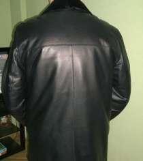 Куртка черная кожаная, 56 р-р, 5 рост, в Челябинске