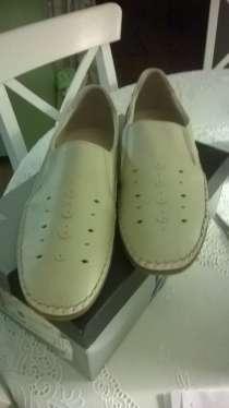Туфли летние, молочного цвета, натуральная кожа, размер 44, в Белгороде