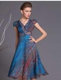 Шифоновое платье, 52 размера, в Новосибирске