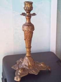 Антикварный ПОДСВЕЧНИК красивый на 1 свечу 24 см Италия, в Челябинске