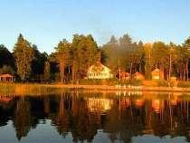 База отдыха на берегу озера, в Санкт-Петербурге