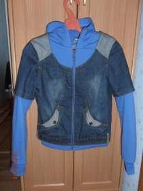 куртка джинсовая на девочку  40-42разм, в Чебоксарах