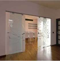 Стеклянные двери купе, в г.Караганда
