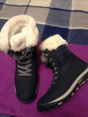 Ботинки темно-синего цвета, зимние в Москве Фото 2