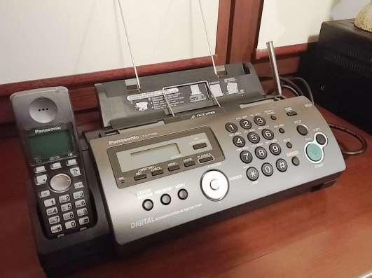 Факс. Телефакс Panasonic KX-FC228 с радиотрубкой на обычной