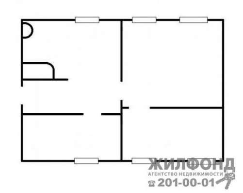 часть дома, Новосибирск, Рабочий 5-й пер, 49 кв.м. Фото 1