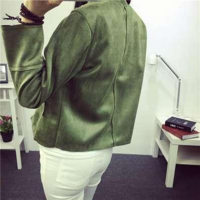 Куртка-пиджак замшевый, короткий