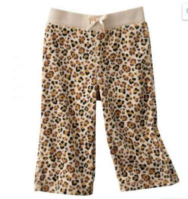Флисовые штаны леопард