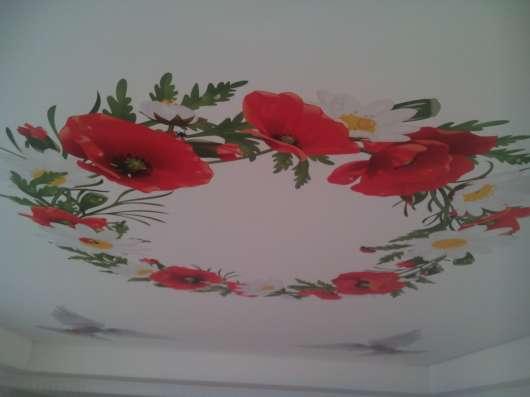 Художественные натяжные потолки. УФ печать