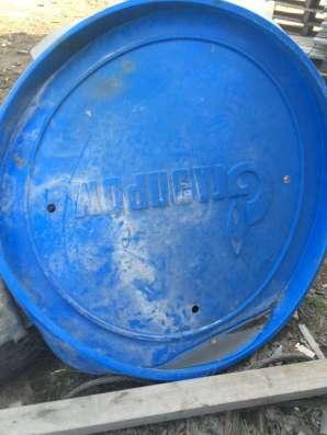 Крышки синие пластиковые Газпром в Смоленске Фото 1