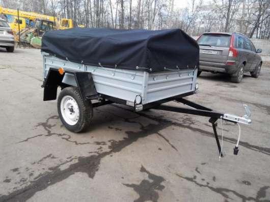 Прицеп для легкового автомобиля с V образным дышлом 1800х1250 с тентом и дугами в Москве Фото 2