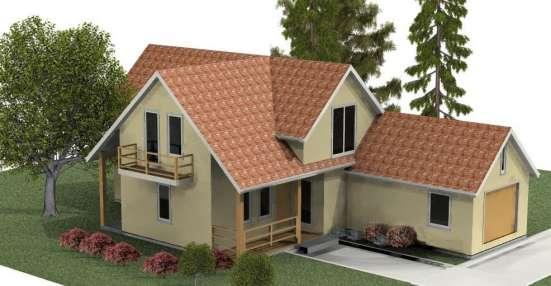 Красивый современный каркасный дом