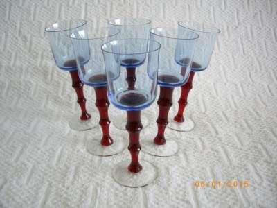 Оригинальные трехцветные бокалы для вина в Благовещенске Фото 1