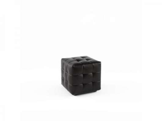 Черный классический пуф
