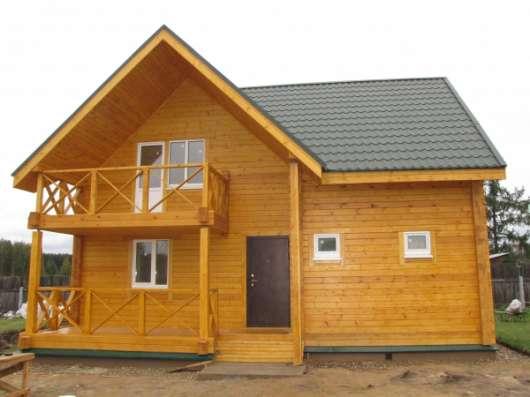 Строительство дачных домов, коттеджей и бань из  Клееного бруса, каркаса