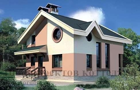 Строительство кирпичного дома 7,8x8,4 с мансардой