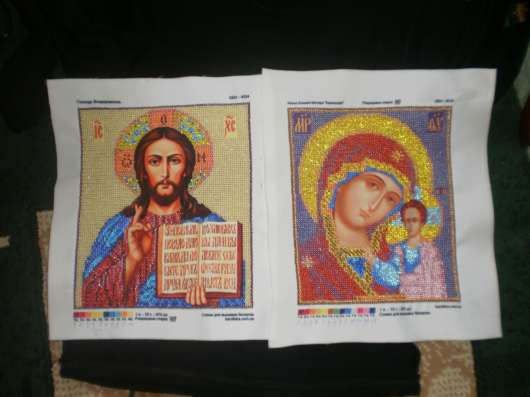 Вышивка именных, венчальных икон, картин бисером на заказ в г. Бердянск Фото 1