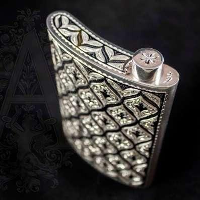 Эксклюзивные серебряные фляжки ручной работы в Москве Фото 5