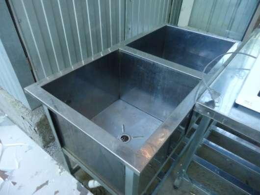 Ванна нержавеющая сталь для мойки две секции