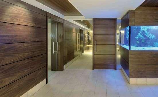 Роскошные шпонированные стеновые панели на основе смл