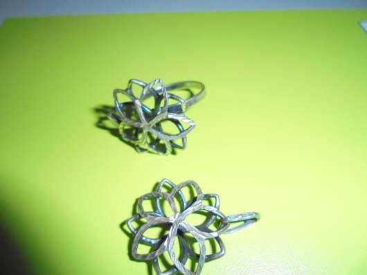 Комплект : кольцо + кулон, серебро 925 в Москве Фото 1