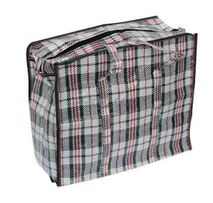 Сумка пакет клетчатая для переездов