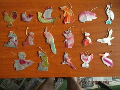 Ёлочные игрушки, старые, антиквариат