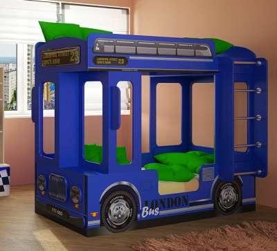 Автобус ЛОНДОН кровать для детей синий