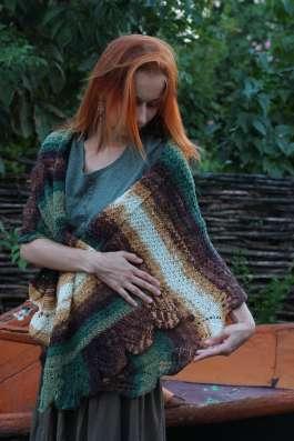 шарф шаль палантин пончо трансформер ручная работа в Саратове Фото 1