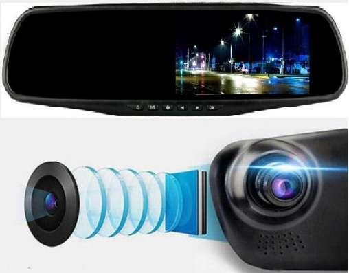 Зеркало видеорегистратор с двумя камероми