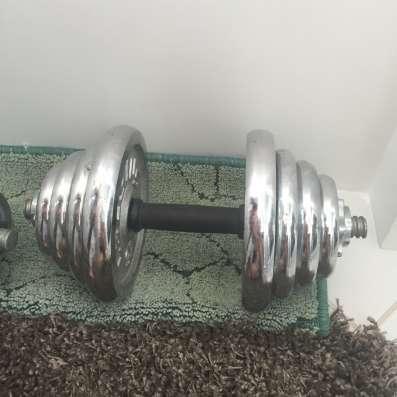 Продам хромированные гантели общий вес 35кг